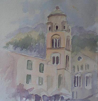 3 Colour Sketch Amalfi Duomo