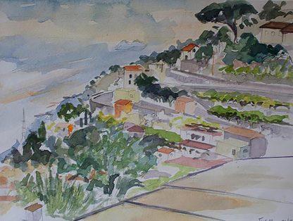 Amazing Balcony View At Hotel Bacco Amalfi Coast