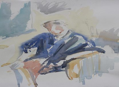 Mike And Matisse In Watercolour