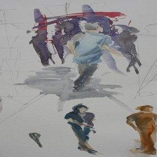 Painting Moving Figures Watercolour