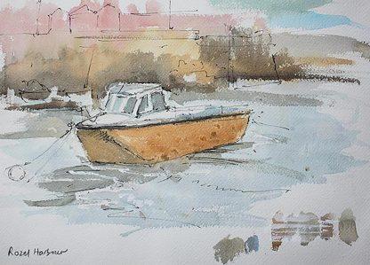 Pen And Wash Rozel Harbour