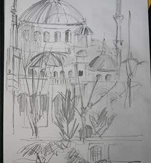 Blue Mosque Itsanbul Pencil