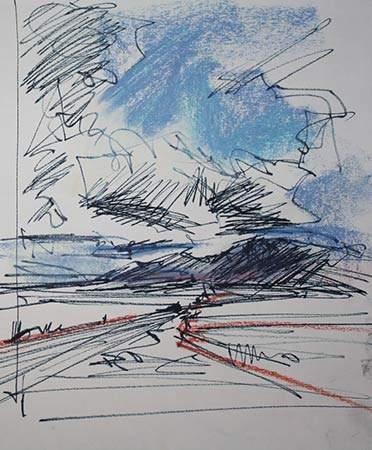 Composition Spain Pastel Ink