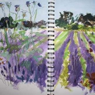 Lavender Acrylic Sketch