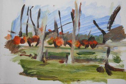 Meadows Acrylic Sketch