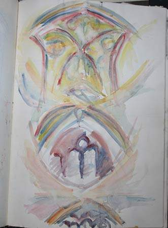 Salis Cathedral Watercolour