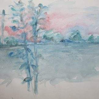 Sunset Summer Watercolour