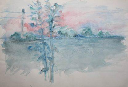 Sunset Summer Watercolour